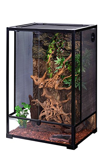 Oiibo Knock Down Glass Reptile Terrarium 24x18x35 Inch (Medium, Extra Tall 24'' x 18'' x 35'') by Oiibo