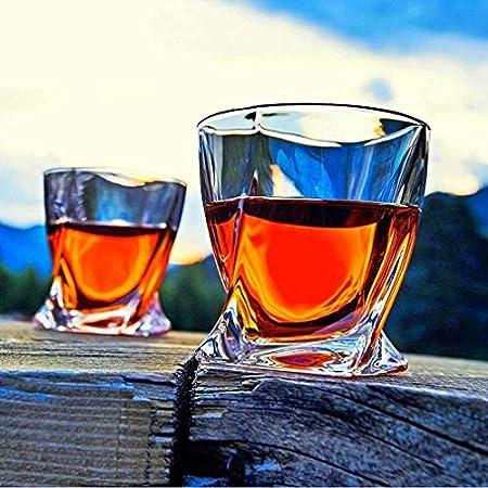 HAOKTSB Vidrio de Whisky, Gafas escocesas de Cristal Transparente, 10 oz Tazas de cata de Cristal para Hombres y Mujeres Decantador de Whisky