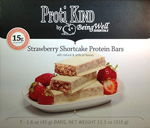 Proti Kind Very Low Carb Strawberry Shortcake VLC Protein Bars - Full CASE - 84 Bars by Being Well Essentials (Image #3)