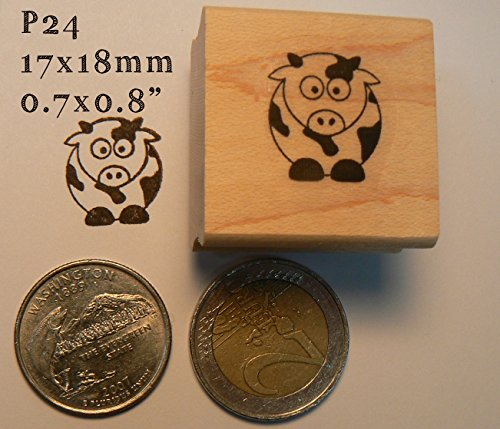 Miniature cow rubber stamp
