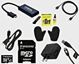Micro USB to HDMI MHL Adapter Bundle With Transcend 8GB MicroSDHC Memory Card, HDMI, Micro USB, TV Cleaning Kit and Charger (Mobile High Definition Link) for LG, HTC, Sony and Samsung Smartphones and Tablets to Display on Your HDTV!