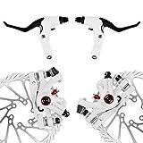 AFTERPARTZ NV-5 G3/HS1 Bike Disc Brake Kit Front + Rear Rotor (NV-5 HS1 White Kit with handle)