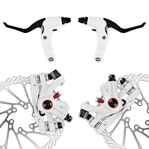 AFTERPARTZ NV-5 G3/ HS1 Bike Disc Brake Kit Front + Rear Rotor (NV-5 G3 White Kit with Handle)
