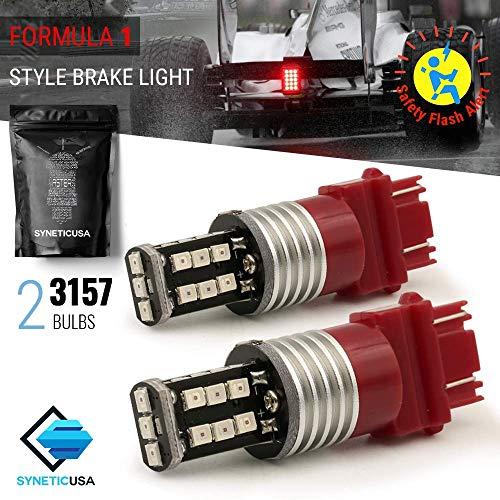Red Flashing Strobe Blinking Rear Alert Safety Brake Tail Stop High Power LED Light Bulbs - 1994 Lights Tail Mustang