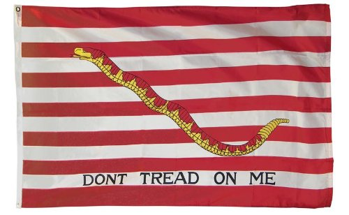 (JOHNIN 3x5 Foot First Navy Jack Flag - UV Fade Resistant - Bright Pattern - Dont Tread On Me Flag)