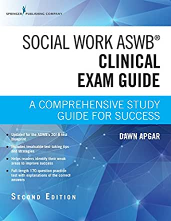 Pdf download aswb clinical study guide: exam review practice test q….