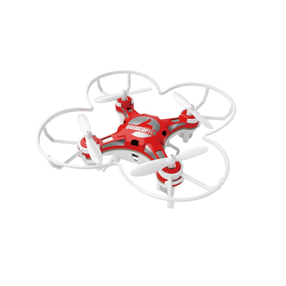 kosiwun FQ777 124 Micro Pocket Drone 4CH 6Axis Gyro With Switchable Controller and 3D Flip Headless Mode Mini quadcopter for Kids Toys Red