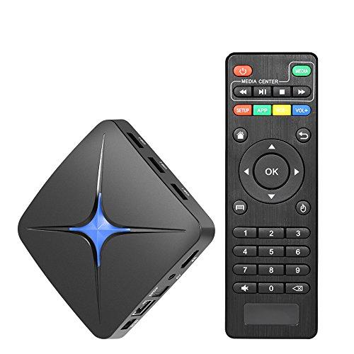 Docooler Smart Mini PC TV Android 7.1 HD Media Player RK3328 Quad Core UHD 4K H.265 USB3.0 2GB / 16GB Bluetooth 4.0 WiFi LAN US Plug by Docooler