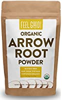 Certified USDA Organic Arrowroot Powder (Manihot esculenta) Arrowroot powder is a starch that is produced from the tubers of arrowroot plants. Perfect for gluten-free cooking, it is a great substitute for cornstarch and four and is often used as a th...