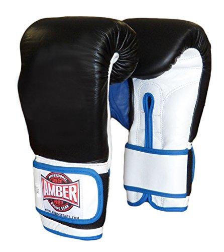 AMBER Fight Gear Gel Training Hook & Loop Gloves, 12 oz