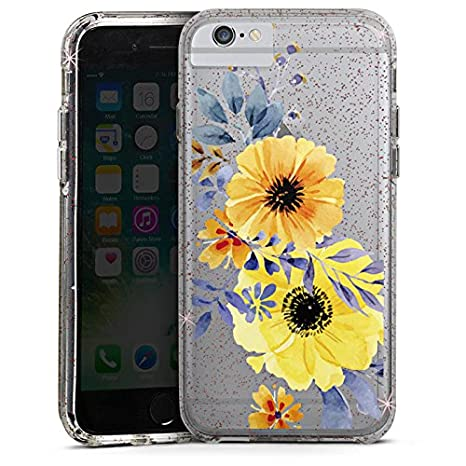 Apple Iphone 8 Plus Bumper Custodia Bumper Case Custodia Fiore Senza