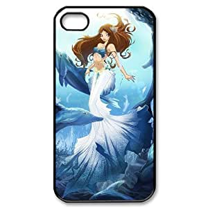 James-Bagg Phone case Love dolphins,cute dolphin pattern For Iphone 4 4S case cover FHYY430943