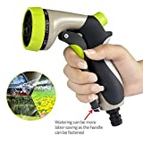 Msliy Garden Hose Nozzle 8 Adjustable High Pressure