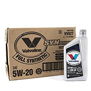 Valvoline 5W-20 SynPower Full Synthetic Motor Oil - 1qt (Case of 6) (VV927-6PK)