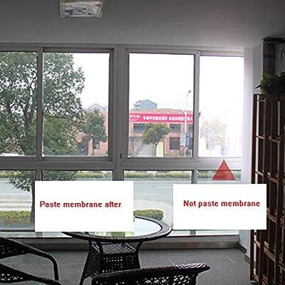HANSHAN Película para ventanas Película For Ventanas, Película De Vidrio Ventana For Balcones Puerta Corredera Protector Solar Aislamiento Película For Interiores Pegatinas No Reflectantes For El Hoga: Amazon.es: Hogar