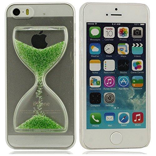 tasche schutzhülle Case Cover Hülle für iPhone 5 iPhone 5S iPhone 5G (nicht passen für iPhone 5C) Besondere Design Imitation Sanduhr Schläger Auf Die Zurück Hoch Klar Transparent PC