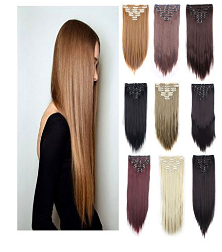 Haironline 3-5 Days Delivery 8 Pieces Real Thick Full Head Double Weft Hair Clip In Hair Extensions Hairpiece 18 Clips Straight Curly Wavy Girls (1920 Hairstyles For Long Hair)