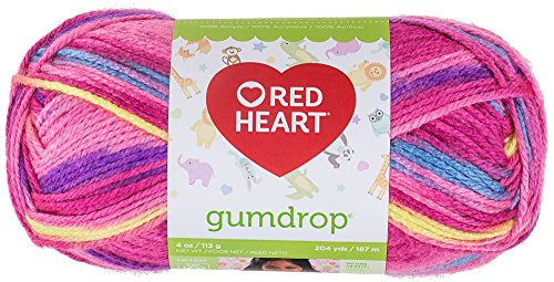 - Red Heart Gumdrop Yarn, Cherry