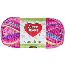 RED HEART Gumdrop Yarn, Cherry