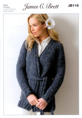 Amazon Ladies Jacket Jb116 Knitting Pattern For James C Brett