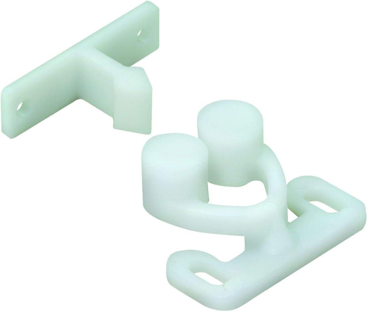 14 x 30 x 25 mm in plastica Hettich 9219924 Chiusura a Scatto a Vite Colore: Bianco