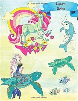 Unicorni E Sirene Dolce Libro Da Colorare Per Ragazze Da 2 Anni Colorato Mondo Di Unicorni E Sirene Per Bambini Un Disegno Rilassante Per I Bambini Regalo Con Un