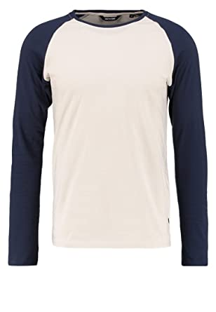 8a3d363e6 Only & Sons Mens Raglan T-Shirts - Long Sleeve Top - Crew Neck ...