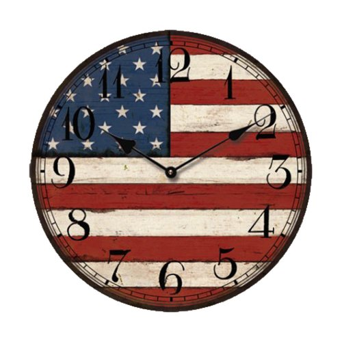 Creative Motion USA Flag Clock