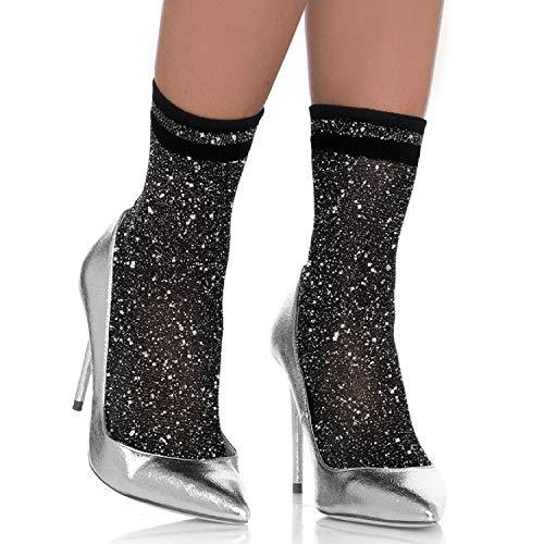 Leg Avenue Womens Lurex Shimmer Anklet - Glitter Avenue Leg