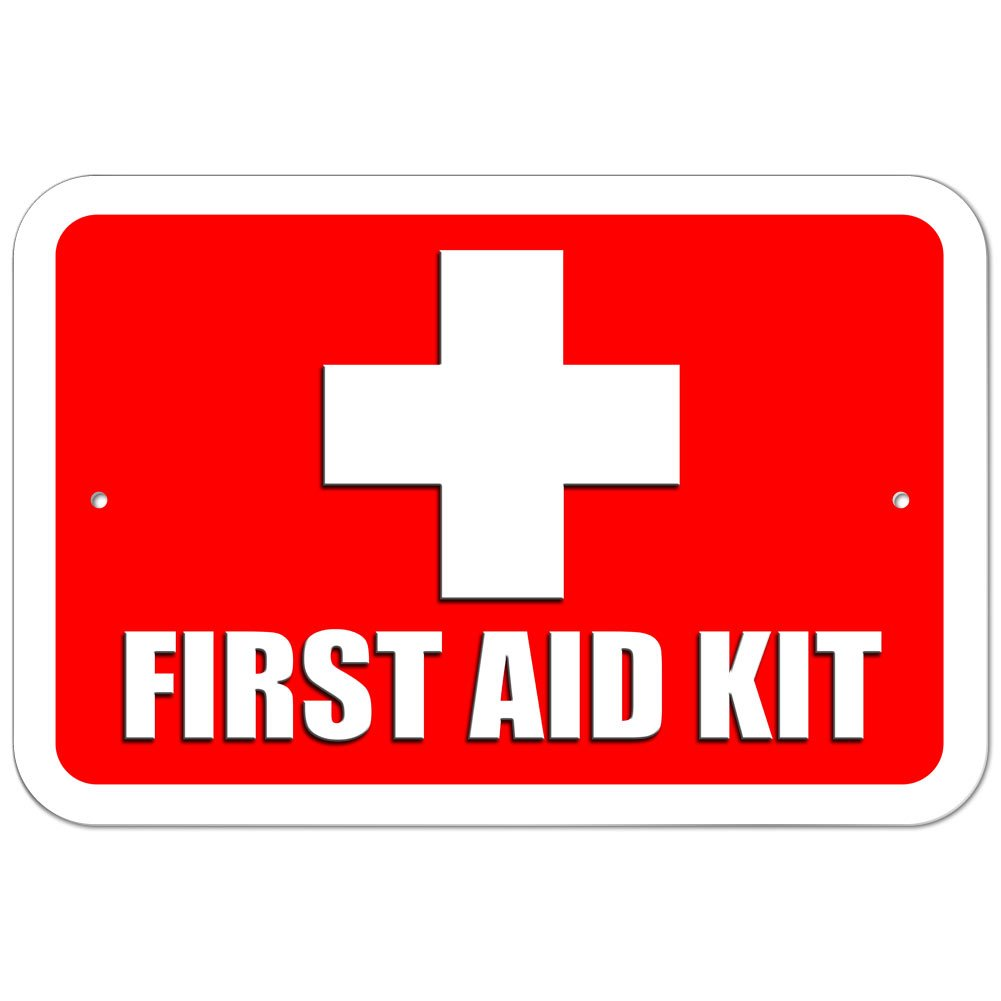 15.3cm x 22.9cm Plastic Sign First Aid Kit 6 x 9