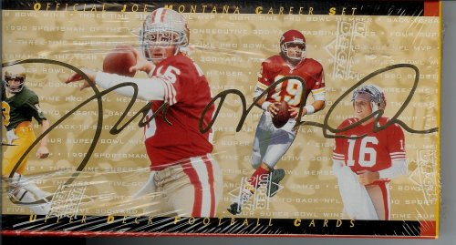 Official Joe Montana Career Set Collectible Edition by Upper Deck