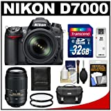 Nikon D7000 Digital SLR Camera and 18-105mm VR + 55-300mm VR Lens + 32GB Card + Filters + Case + Accessory Kit, Best Gadgets