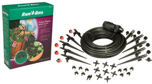 Rain Bird PATIOKIT Drip Irrigation Patio Watering Kit, Connects to Faucet, 1/4
