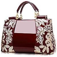 FuDai Women Embroidery Handbags Top-handle Bags Tote Satchel Shoulder Bags