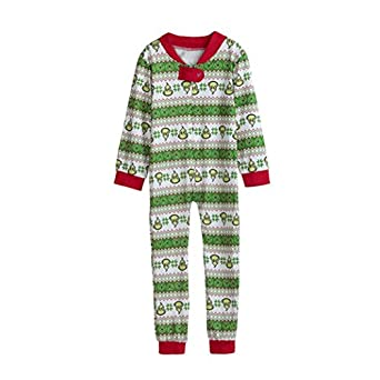 Family Matching Xmas Pajamas Set Women Kid Adult PJs Sleepwear Nightwear