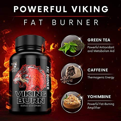Viking Supps Viking Burn Fat Burner, Weight Loss Support Supplement with Green Tea, Caffeine, and Yohimbine - 60 Capsules (30 Day Supply) 2