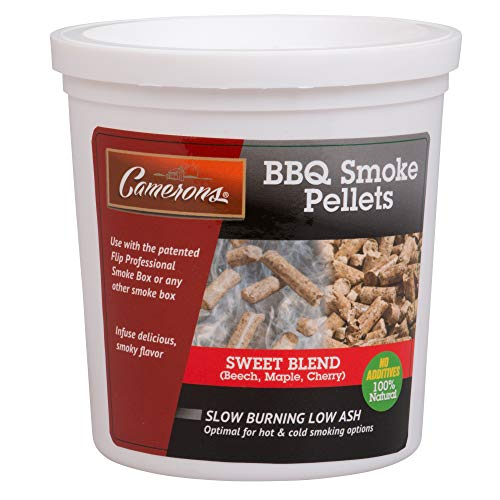 Camerons Smoking Wood Pellets (Sweet Blend)- Kiln Dried BBQ Pellets- 100% All Natural Barbecue Smoker Fuel- 1 Pint ()