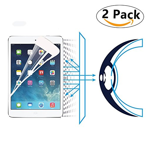 [2 Pack] iPad Mini 4 Blue Lights Filter Tempered Glass Screen Proetctor,i-Deal Anti Blue Lights Eye Care Screen Proetect Film,Anti Bubble Hamful Blue Lights Blocks Great for kids' Eyes