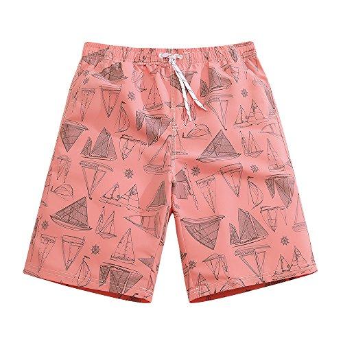 Mens Ultra Quick Dry Sailboard Sketch Fashion Board Shorts M