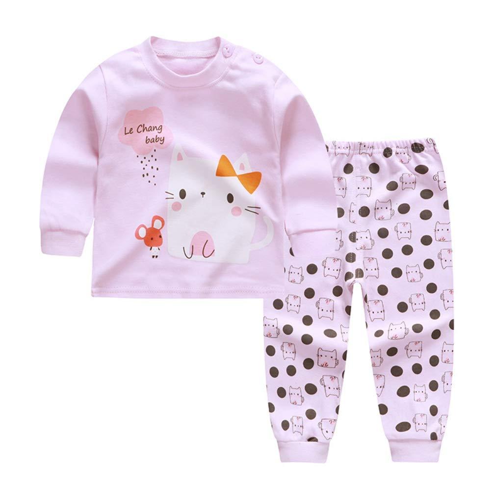 URMAGIC B/éb/é Chaud V/êtements de Nuit Enfants Gar/çons Filles 2 Pcs Manches Longues Coton Pyjamas