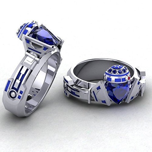 Beautiful R2 Claddagh Handmade Ring For Ladies (Geek Dot)