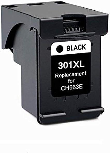 befon Sustitución del Cartucho de Tinta para 301 X L HP301 XL CH563EE CH564EE Color Negro Pack de 1 Compatible para HP DeskJet D1000 1050 2000 2050 2510 3000 3050 A 3054 A (301BK): Amazon.es: Oficina y papelería