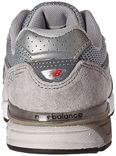 New Balance KJ990V4 Pre Running Shoe (Little Kid) Grey/Grey