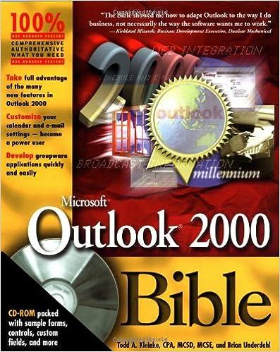 Book Microsoft Outlook 2000 Bible