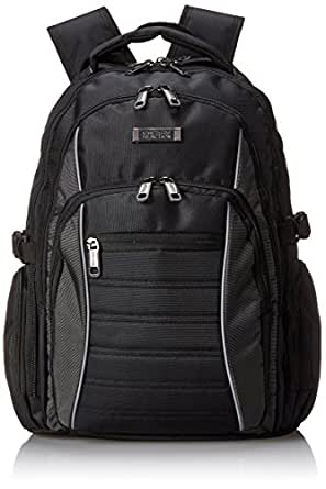 Kenneth Cole Reaction No Looking Back Top Zip Computer Ipad Tablet Backpack, Black, One Size