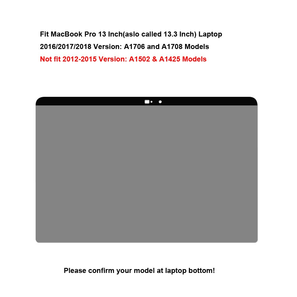 AISCPRO Privacy Screen Protector【Webcam Cover Slide】 Anti-Spy Filter Fit MacBook Pro 13 Inch Laptop 2016//2017//2018 Version A1706 A1708 Models