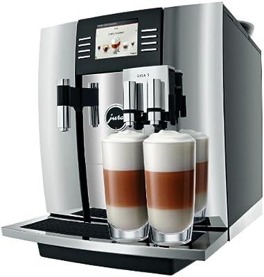 JURA GIGA 5 Chroom Independiente Máquina espresso Negro, Cromo 2,6 L 20 tazas Totalmente automática - Cafetera (Independiente, Máquina espresso, 2,6 L, Molinillo integrado, 2300 W, Negro, Cromo): Amazon.es: Hogar