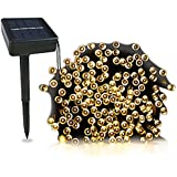 Christmas solar led fairy lights,Romte solar panel with 2 meters cable, Ambiance lights for Outdoor, Patio, Fairy Garden, Home, Wedding, Christmas Party, Xmas Tree, waterproof (Warm White)