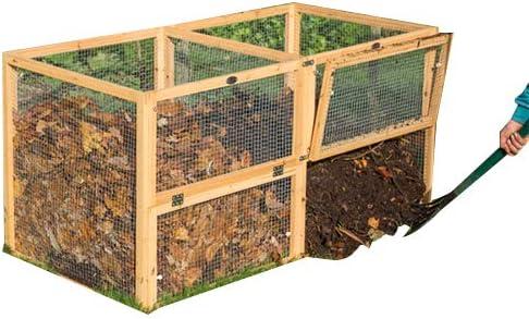 Malla de alambre Premium cubo de basura para abono con puerta por ...