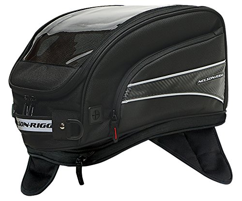 Nelson-Rigg CL-2016-MG Black X-Large Journey Motorcycle Tank Bag Magnetic Mount